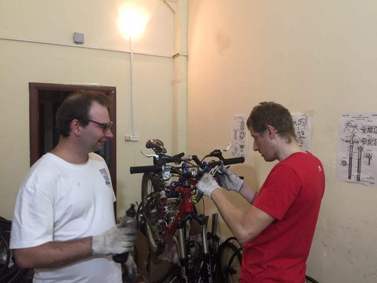 Ремонт велосипедных тормозов (2)